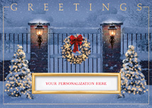 Gated Glow Holiday Cards